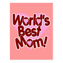 World's BEST Mom Postcard