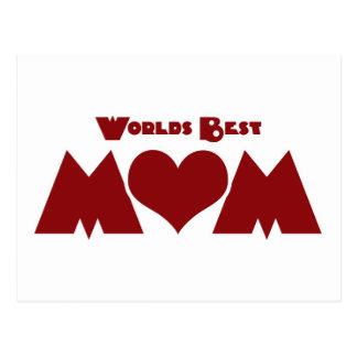 Worlds Best Mom Postcard