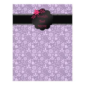 World's best mom purple flowers personalized flyer