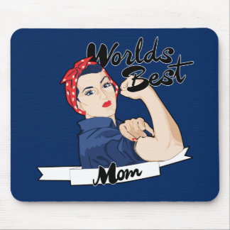 Worlds Best Mom Rosie Riveter Mouse Pad