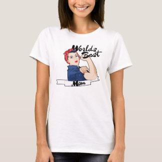 Worlds Best Mom Rosie Riveter T-Shirt