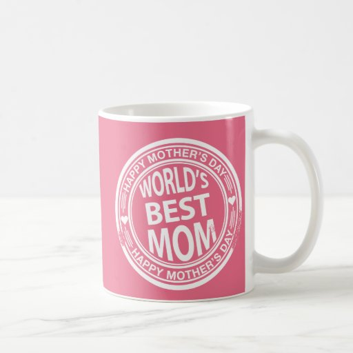 World's Best mom rubber stamp effect Coffee Mug