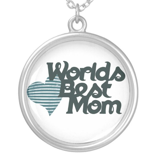 Worlds Best Mom Silver Plated Necklace