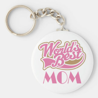 Worlds Best Mom Sports Style Gift Key Chains