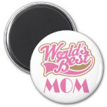 Worlds Best Mom Sports Style Gift Magnet