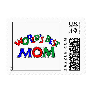 World's Best Mom Stamp (SMALL)