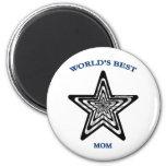 World's Best Mom Star 2 Inch Round Magnet