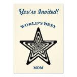 "World's Best Mom Star 5"" X 7"" Invitation Card"