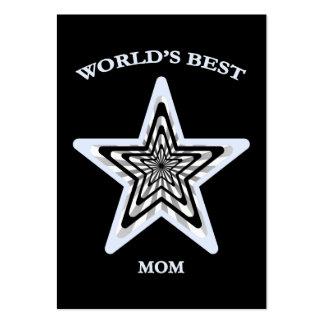 World's Best Mom Star Business Card