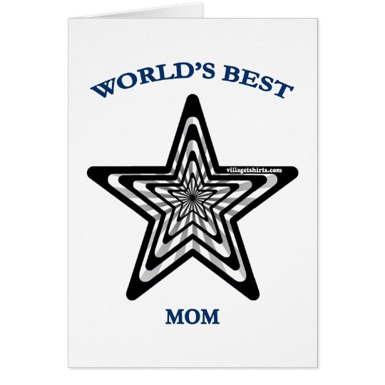 World's Best Mom Star Card