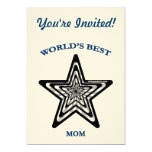 World's Best Mom Star Invites