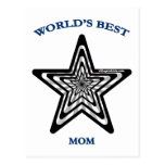 World's Best Mom Star Post Card