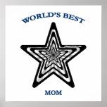 World's Best Mom Star Print