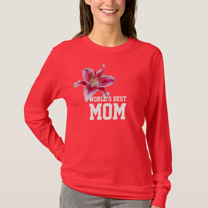 World's Best Mom Stargazer Silhouette T-shirt