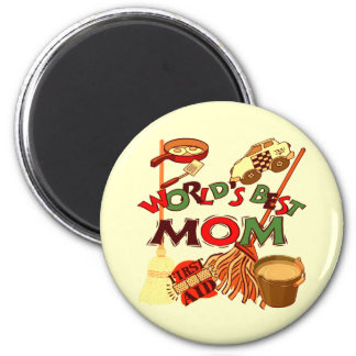 Worlds Best Mom T-shirts and Gifts For Her 2 Inch Round Magnet
