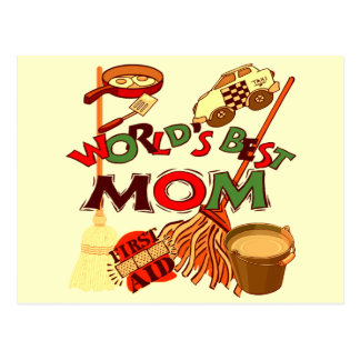Worlds Best Mom T-shirts and Gifts For Her Postcard