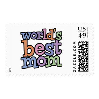Worlds Best Mom T-Shirts & Gifts Stamp