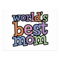 Worlds Best Mom T-Shirts & Gifts Postcard
