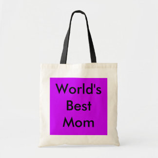 World's Best Mom Tote Canvas Bags