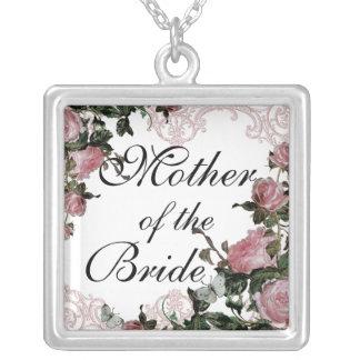 Worlds Best Mom - Trellis Rose Vintage necklace