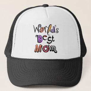 b3630feee3a World s Best Mom Typography Trucker Hat