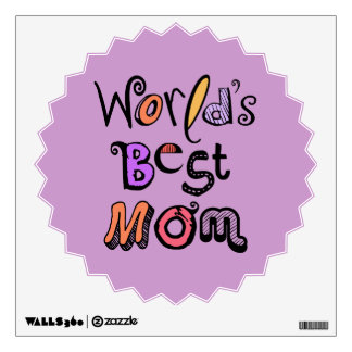 World's Best Mom Typography Wall Decal