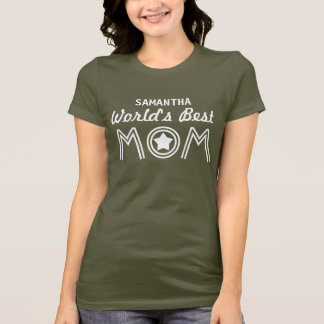 World's Best MOM with Star and Custom Name V01C26 T-Shirt