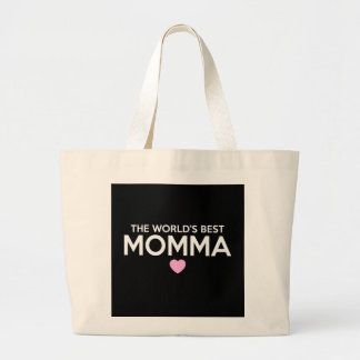 World's Best Momma Print Large Tote Bag
