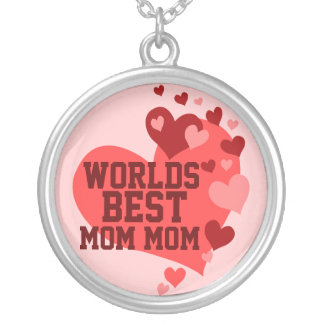 Worlds Best MomMom (or any name) Pendant