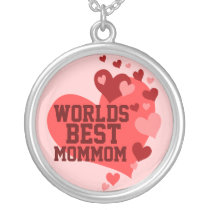 Worlds Best MomMom (or any name) Silver Plated Necklace
