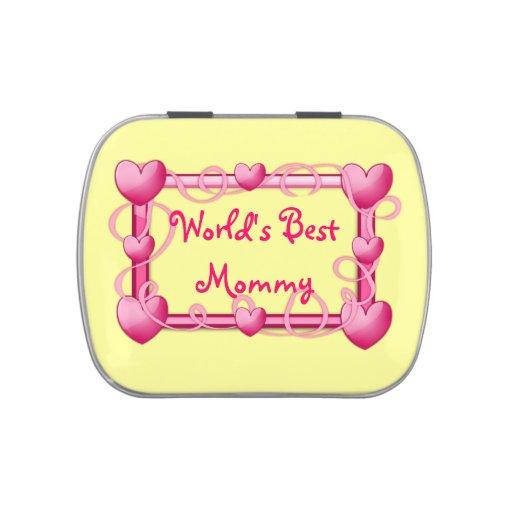 """World's Best Mommy"" Heart Frame Candy Tin"