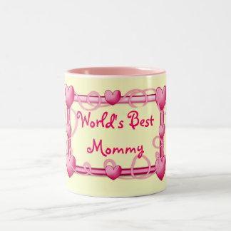 """""""World's Best Mommy"""" Heart Frame Mug"""