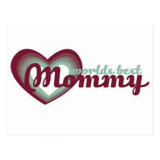 Worlds Best Mommy Postcard