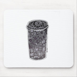 'World's Best Morning Cup' Abstract Mouse Pad