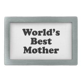 World's Best Mother Rectangular Belt Buckles