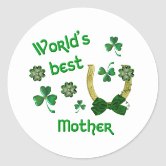 World's best Mother Classic Round Sticker