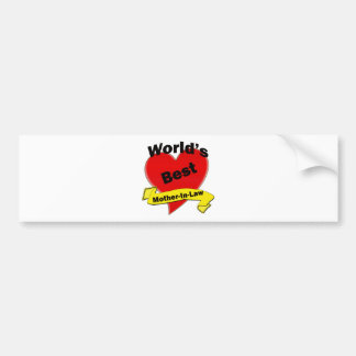 World's Best Mother-In-Law Car Bumper Sticker