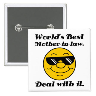 World's Best Mother-In-Law Humor Button