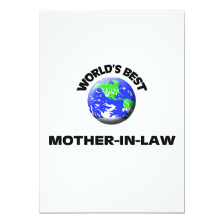 World's Best Mother-In-Law 5x7 Paper Invitation Card