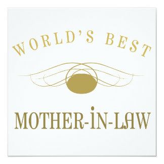 World's Best Mother-In-Law 5.25x5.25 Square Paper Invitation Card