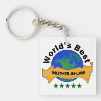 World's Best Mother-In-Law Single-Sided Square Acrylic Keychain