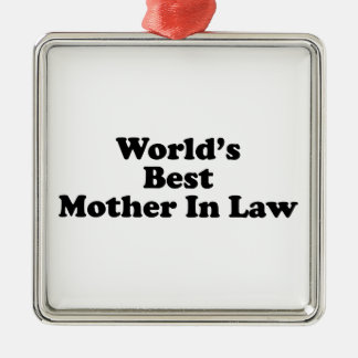 World's Best Mother In Law Christmas Ornament