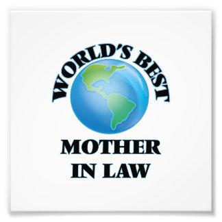 World's Best Mother-in-Law Photographic Print