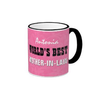 World's Best MOTHER IN LAW Pink V24B3 Coffee Mugs