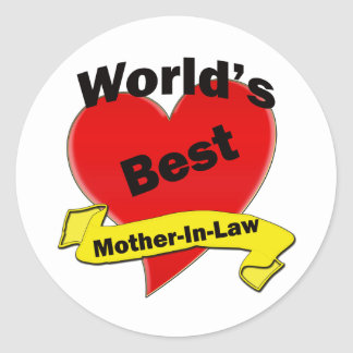 World's Best Mother-In-Law Round Stickers