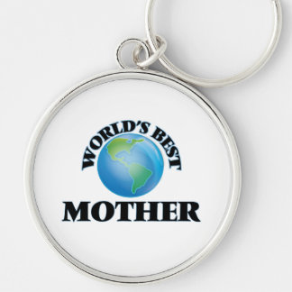 World's Best Mother Silver-Colored Round Keychain