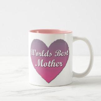 Worlds best Mother Pink Heart Mug