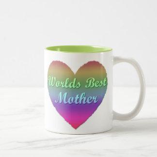 Worlds best Mother Rainbow Heart Mug