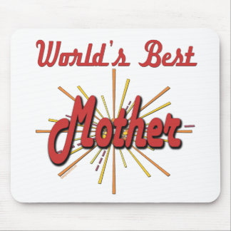 Worlds Best Mother Starburst Mouse Pad