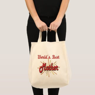 Worlds Best Mother Starburst Tote Bag